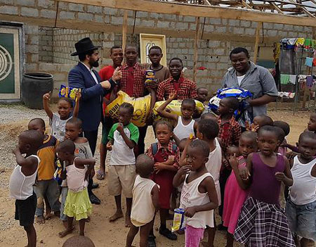 Rabbi Uzan and Nigerian Kids